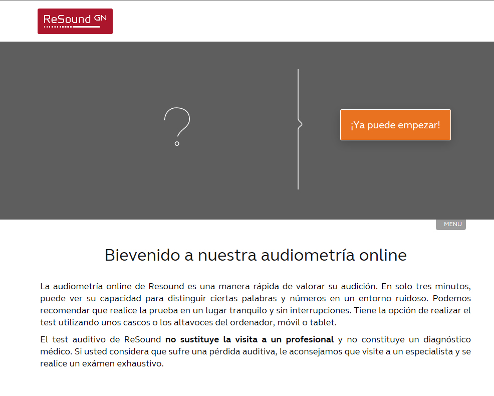 Test online de ReSound